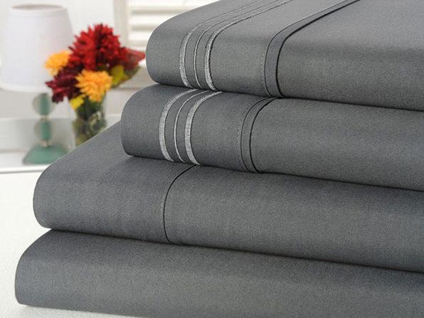 Bamboo Comfort 4-Piece Luxury Queen Sheet Set (Gray)