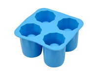 Silicone Shot Glass Ice Tray Molds 4 Pack (Blue) - Product Image
