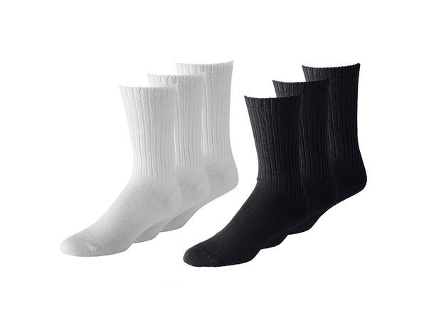 300 Pairs Women's Athletic Crew Socks - Wholesale Lot Packs - Any Shoe Size - White