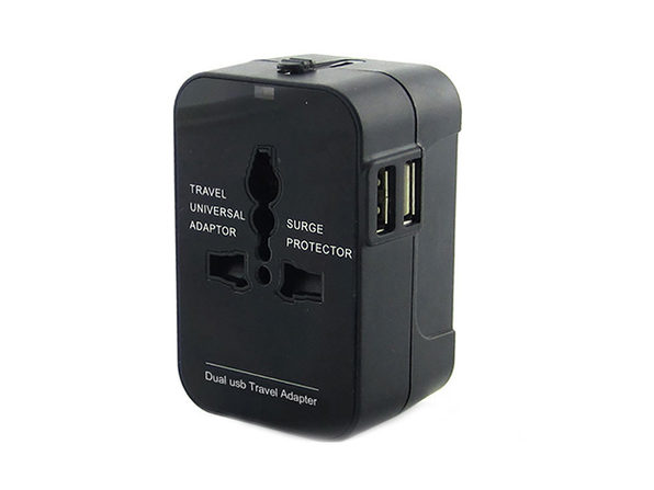 Worldwide Power Adapter and Travel Charger with Dual USB - Product Image