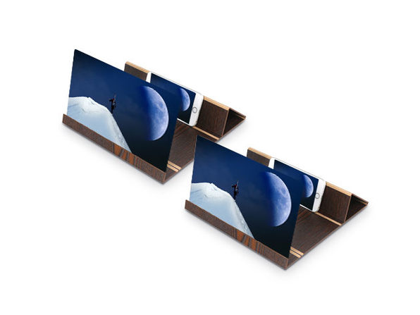 Screen Magnifying Phone Mount (2-Pack/Coffee)