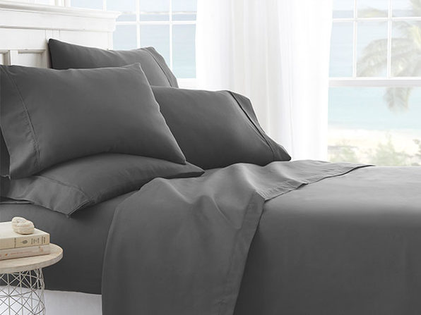 iEnjoy Home Grey 6-Piece Sheet Set (Full)