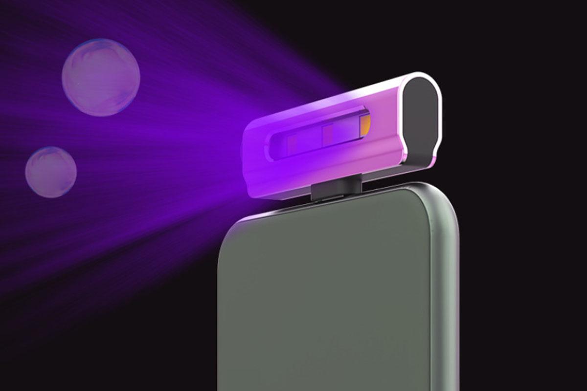 A UV sanitizing light
