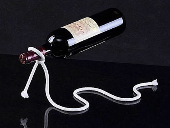 Rope Wine Bottle Stand