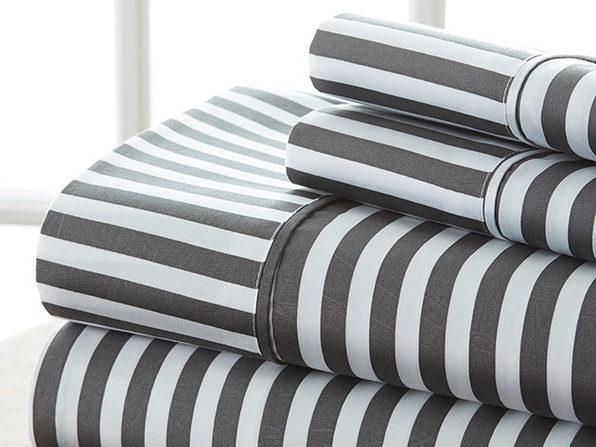 4 piece Striped Sheet Set-Full - Product Image
