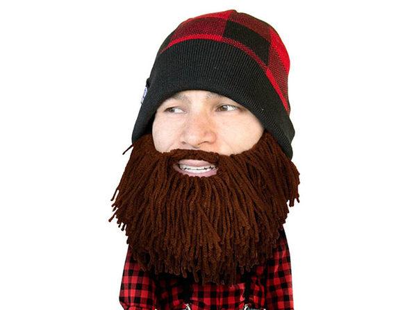 Beard Head® Barbarian Lumberjack: The First Ever Bearded Headwear (Brown)