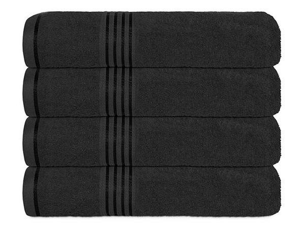 Hurbane Home 4 Piece Bath Towel Set Black - Product Image