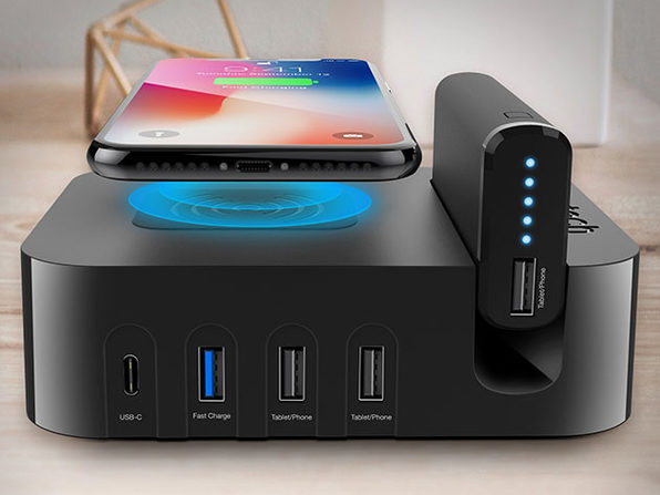 Naztech Ultimate Power Station: Qi Wireless + 5 USB + 4,000mAh Battery