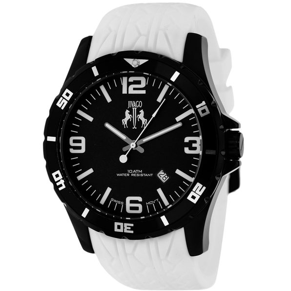 Jivago Men's Ultimate Black Dial Watch - JV0114 - Product Image