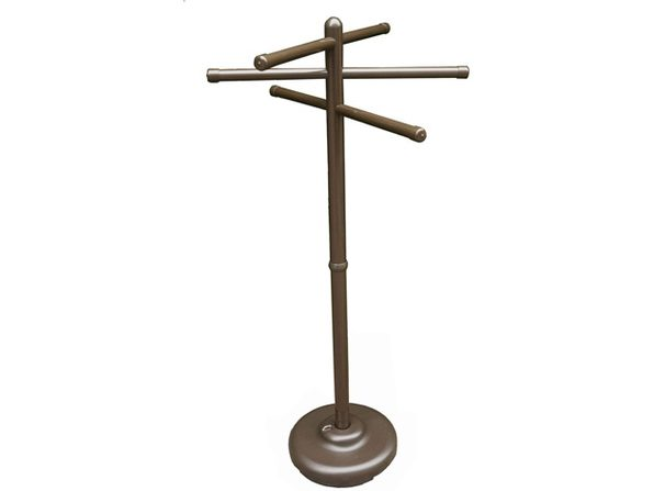 Outdoor Lamp company 401B 401BRZ Portable Outdoor 3 Bar Towel Tree - Bronze (Like New, Damaged Retail Box)