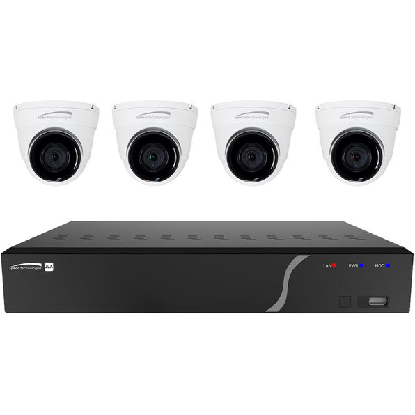 4-CHANNEL NVR WITH 1TB HDD & (4) 5MP IP EYEBALL CAMERAS - Product Image