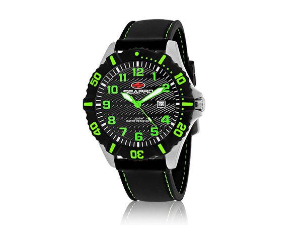 Seapro Men's Trooper Watch Black/Green - Product Image