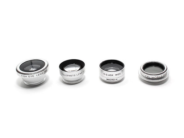 Clip & Snap Smartphone Camera Lenses: 5-Pack (Silver) - Product Image