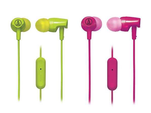 SonicFuel® In-Ear Headphones (2-Pack/Green, Pink)