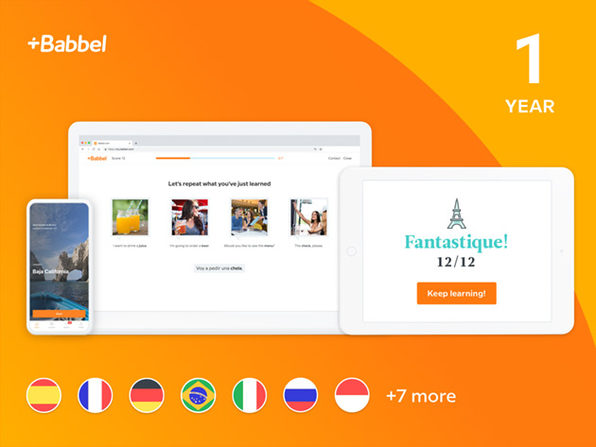 Babbel Language Learning: 1-Yr Subscription (All Languages)