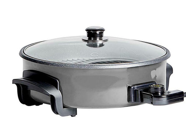 "Curtis Stone Dura-Electric Nonstick 14"" Rapid Skillet (Grey)"