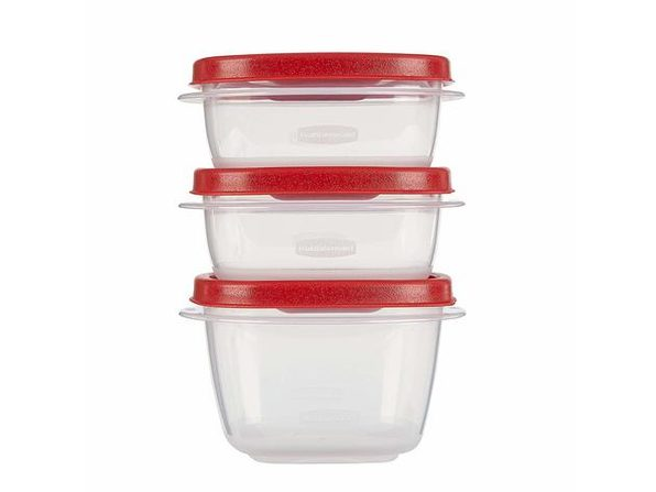 Rubbermaid 1777165 Easy Find Lids Food Storage Containers,  6-Piece, Red - Red