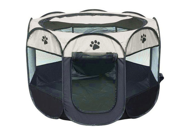 Portable Pet Tent (Gray Small) - Product Image