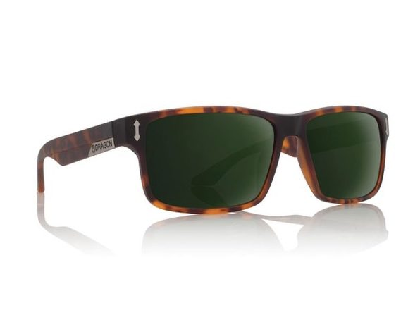 Dragon Alliance 27074 Count Sunglasses, Matte Tortoise/Green G15 - Product Image