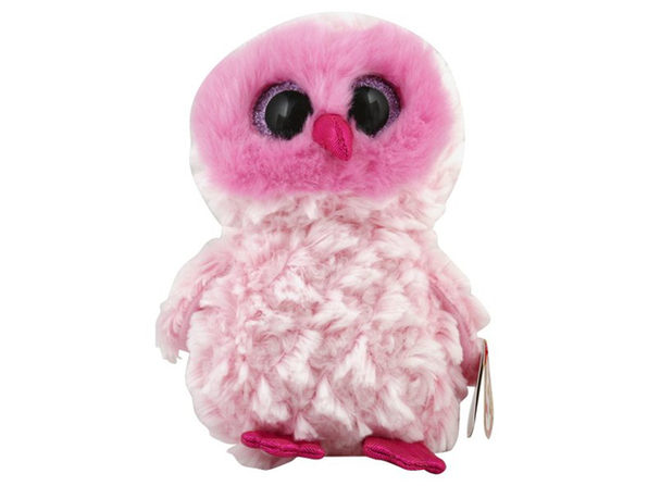 TY Beanie Boos Twiggy Owl Reg Plush Stuffed Animal Collectible Toy, Glad to Have a Friendship with You, Pink - Product Image