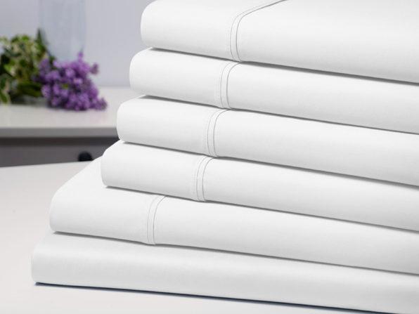 Bamboo Comfort 6 Piece Luxury Sheet Set - White (Full) - Product Image