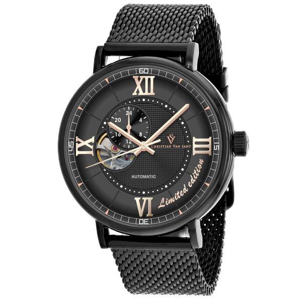 Christian Van Sant Men's Somptueuse LTD Black Dial Watch - CV1144 - Product Image