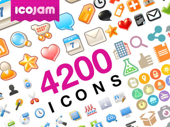 Icojam Raster Icons Bundle - Product Image