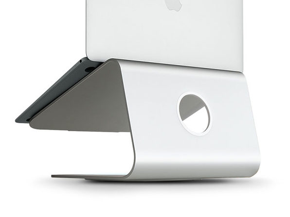 mStand360 Laptop Stand with Swivel Base (Silver)