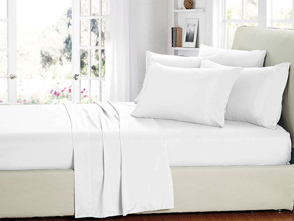 Smart Sheets® White Microfiber Sheet Set