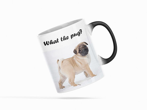 Heat Activated Color Changing Mug (What the Pug)