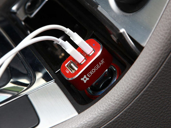 Exocharge 3-Port USB Car Charger