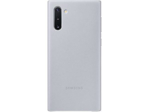 Samsung EF-VN970LJEGUS Leather Protective Back Cover for Galaxy Note10 - Silver (New)