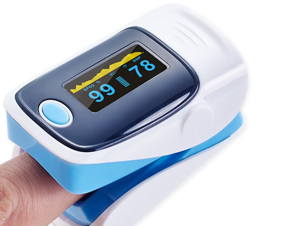 Fingertip Pulse Oximeter (Blue/4-Pack)