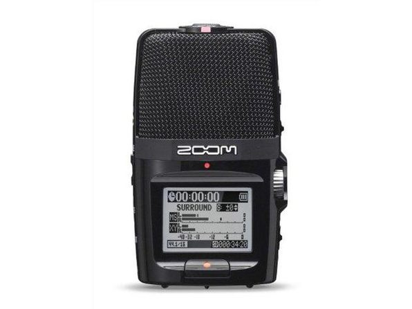 Zoom H2n Surround-Sound Portable Recorder,5 Built-In Microphones - MultiColored (Used, Damaged Retail Box)