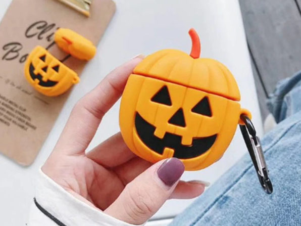 Silicone Earphone Case For Apple Airpods Pumpkin - Product Image