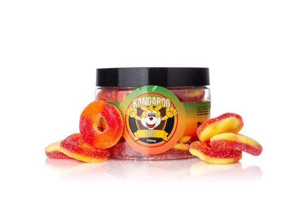 High Potency Organic CBD Peach Rings- 750mg - Product Image