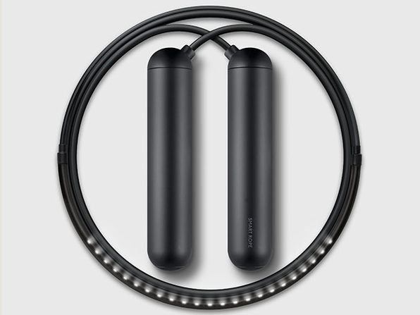 SmartRope: LED-Embedded Jump Rope (Black)