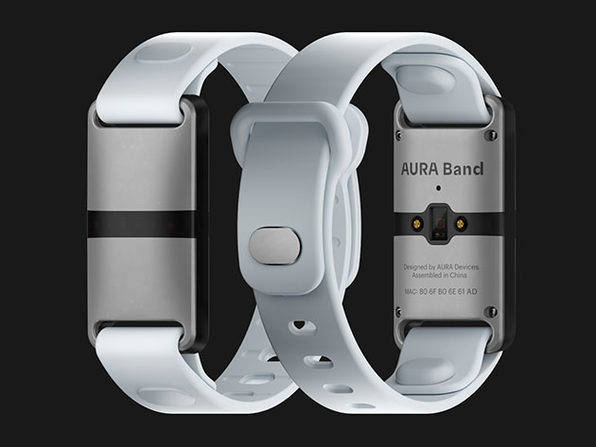 AURA Band Fitness Tracker (White Device/White Band)