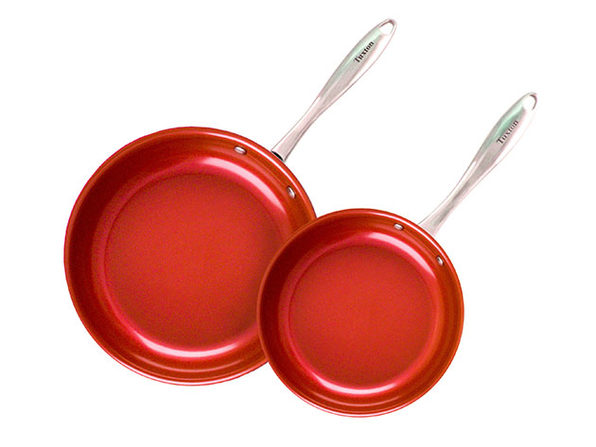 Concentrix 2-Piece Open Nonstick Frypan Set (Cayenne Red)