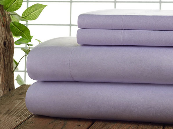 Kathy Ireland 4-Pc Coolmax Sheet Set - Full - Lilac - Product Image