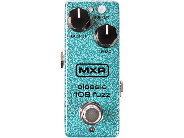 MXR M296 Classic 108 No-Nonsense Two-Knob Fuzz Mini Guitar Effects Pedal - Blue