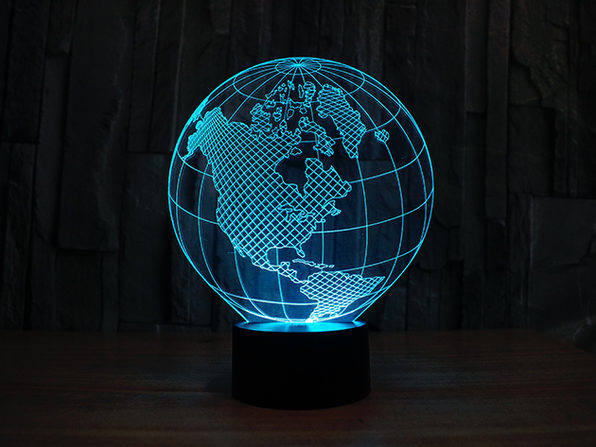 3-D Illusion Lighting Globe - Product Image