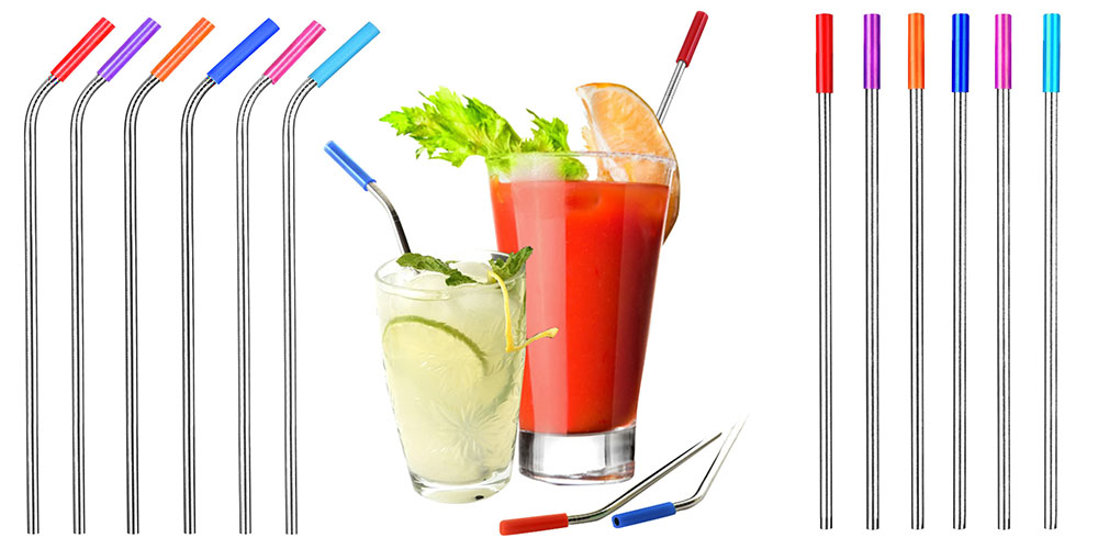 Reusable straws and beverages.