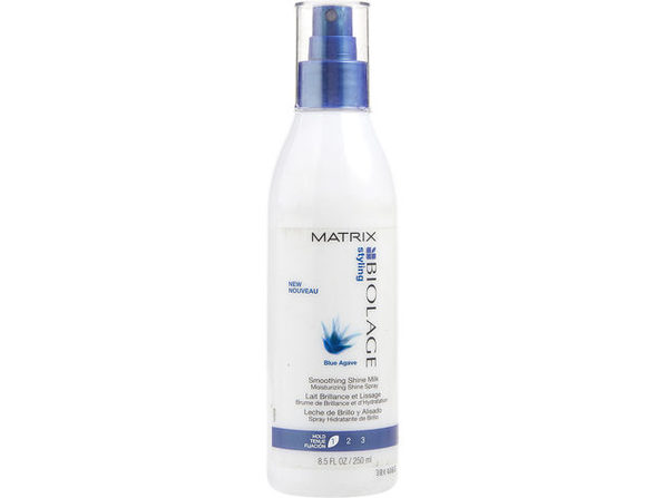 BIOLAGE by Matrix BLUE AGAVE SMOOTHING SHINE MILK 8.5 OZ for UNISEX ---(Package Of 4)