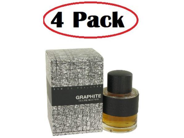 4 Pack of Graphite by Montana Eau De Toilette Spray 3.4 oz - Product Image