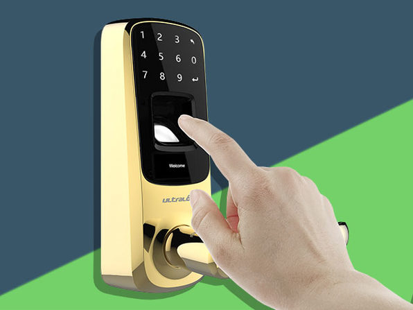 Ultraloq UL3 Bluetooth Fingerprint and Touchscreen Smart Lock (Bright Brass)