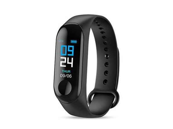 Smart Fitness Tracker With HR & BP Monitor - Black - Product Image