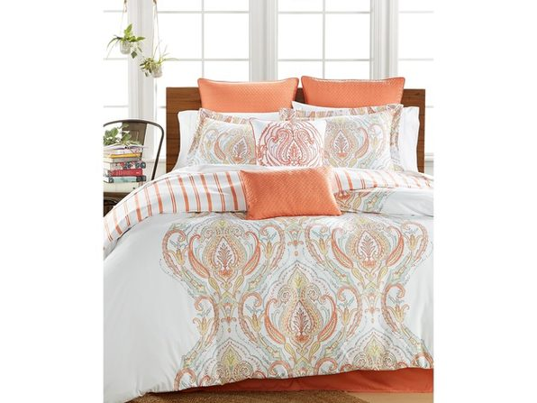Lacourte Jordanna Coral 8-Pc. Queen Comforter Set