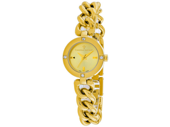 Christian Van Sant Women's Sultry Gold Dial Watch - CV0215