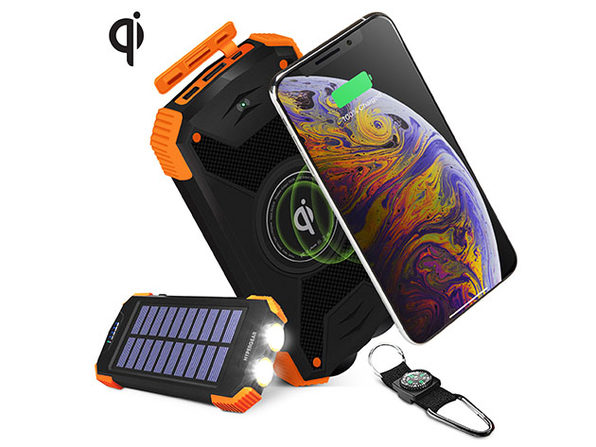 HyperGear Solar 10,000mAh Power Bank (Dual Port + Wireless)